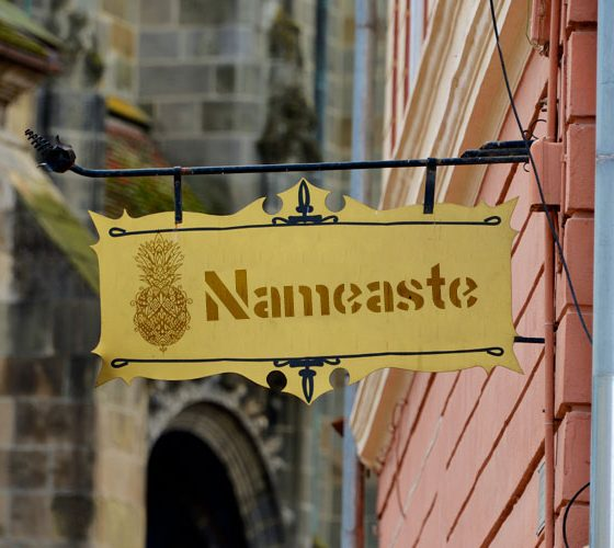 Nameaste.com scene sign